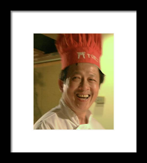 Close Up Framed Print featuring the photograph Japanese Chef by Joshua Sunday