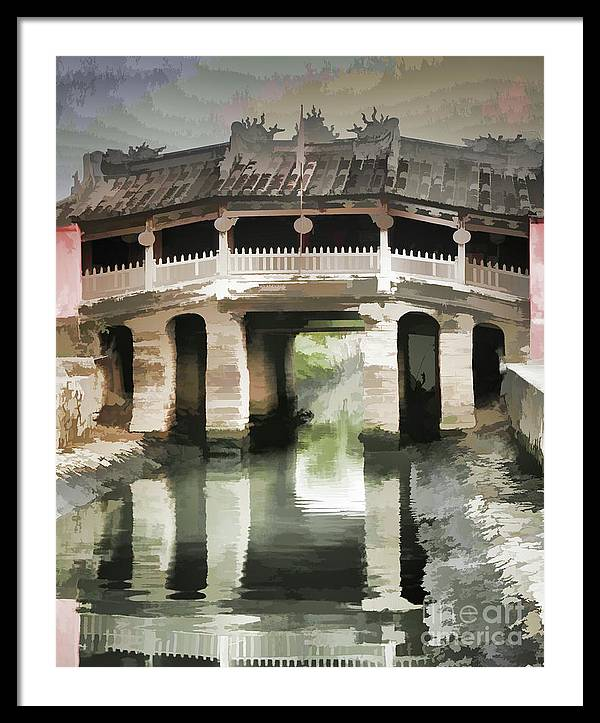 Japanese Covered Bridge Paint Hoi An by Chuck Kuhn