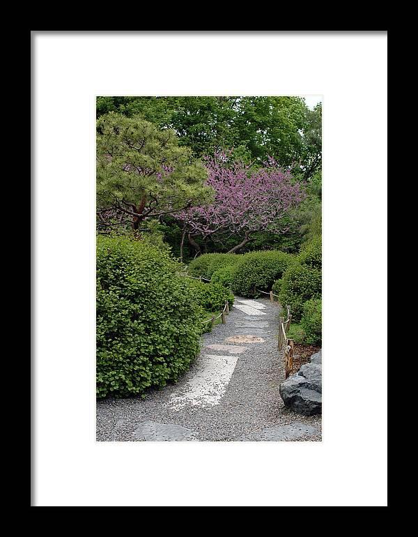 Japanese Garden Framed Print featuring the photograph Japanese Garden I by Kathy Schumann