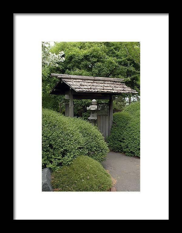 Japanese Garden Framed Print featuring the photograph Japanese Garden by Kathy Schumann
