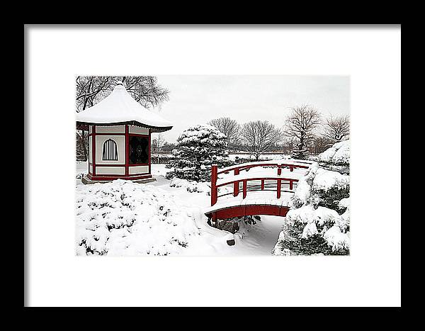 Japanese Garden Framed Print featuring the photograph Japanese Garden by Laurie Prentice