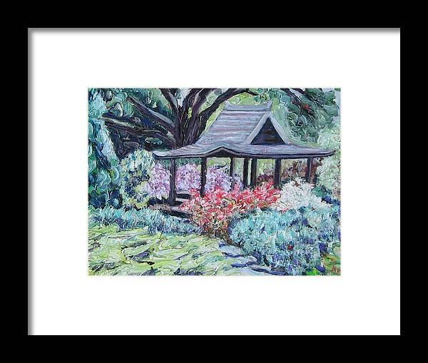 Garden Framed Print featuring the painting Japanese Garden by Richard Nowak