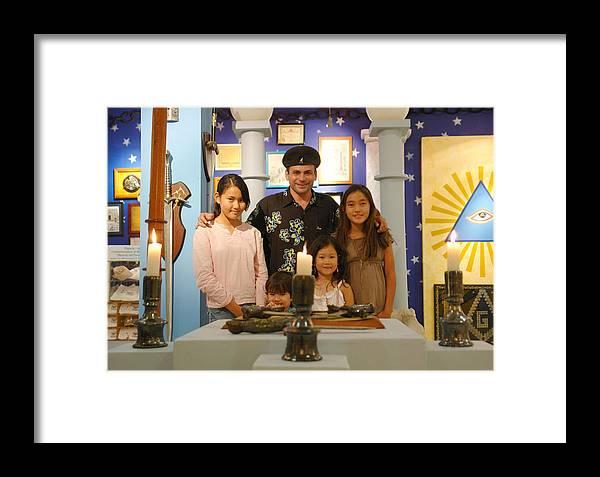 Japanese Little Friends Framed Print featuring the photograph Japanese Little Friends by Angel Ortiz