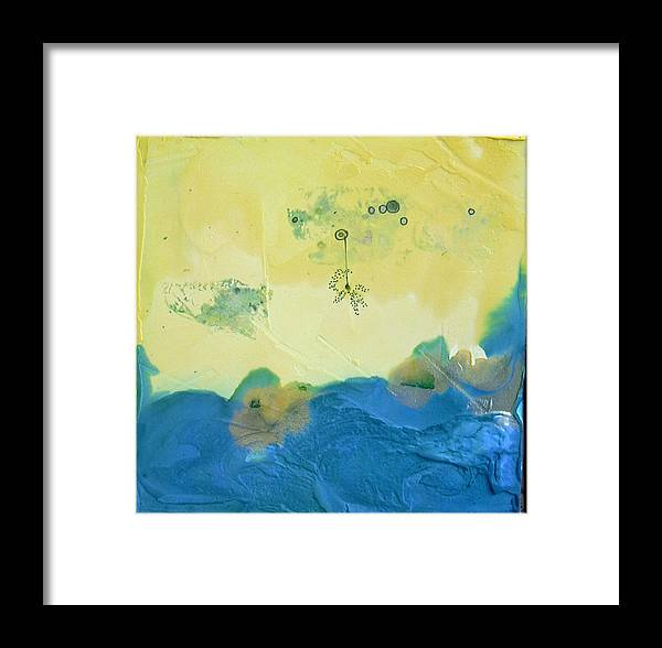 Abstract Framed Print featuring the painting jaPANeSe waVes by Lisa McDonough