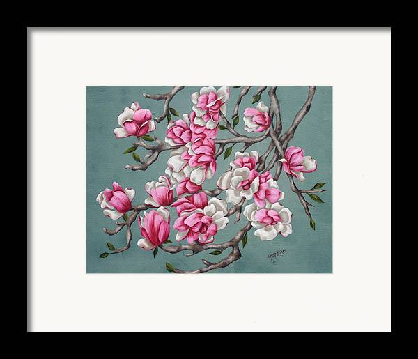 Oil Framed Print featuring the painting Japenese Magnolia by Ruth Bares