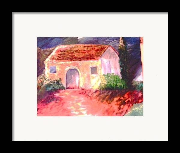 Italy Framed Print featuring the painting Jardono by J Bauer