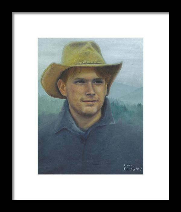 Framed Print featuring the painting Jarrod by Laurel Ellis