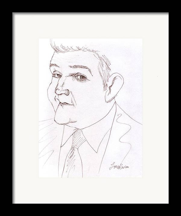 Jay Leno Framed Print featuring the drawing Jay Leno by M Valeriano