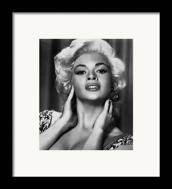 1950s Portraits Framed Print featuring the photograph Jayne Mansfield, Ca. 1950s by Everett