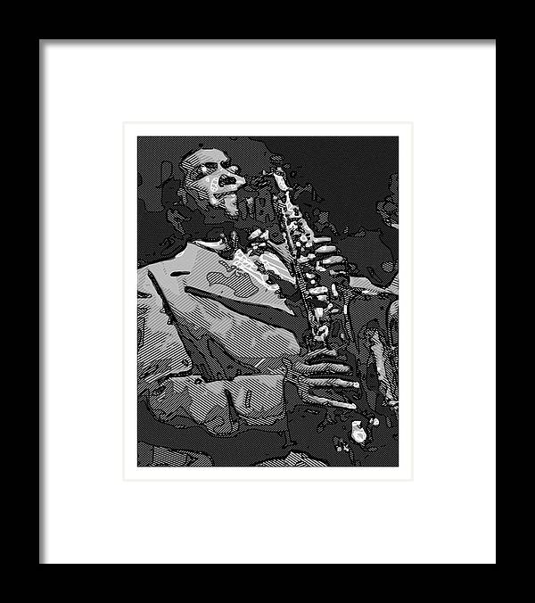 Framed Print featuring the painting Jazz by Andrew Frey