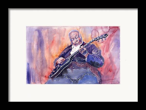 Jazz Framed Print featuring the painting Jazz B.b. King 03 by Yuriy Shevchuk