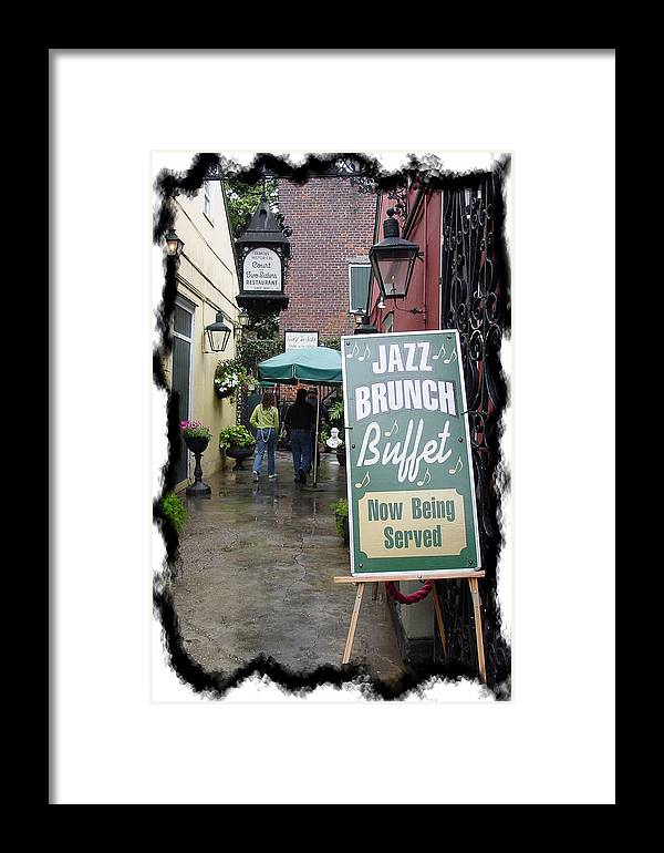 New Orleans Framed Print featuring the photograph Jazz Brunch by Linda Kish