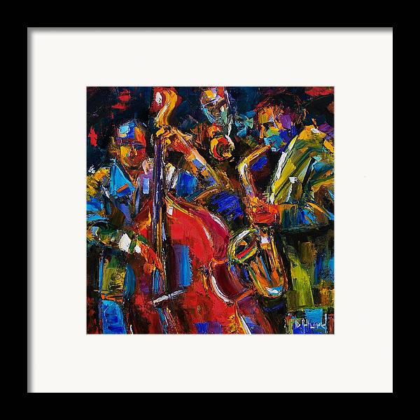 Jazz Framed Print featuring the painting Jazz by Debra Hurd
