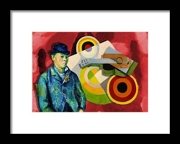 Abstract Framed Print featuring the digital art Jazz Man by Laura Botsford