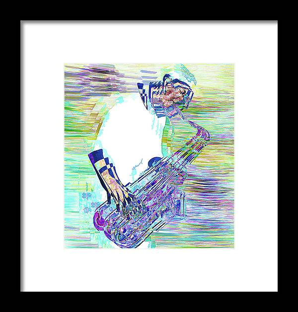 Musician Framed Print featuring the photograph Jazz Melody by Vladimir Kholostykh