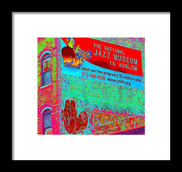 Harlem Framed Print featuring the photograph Jazz Museum by Steven Huszar