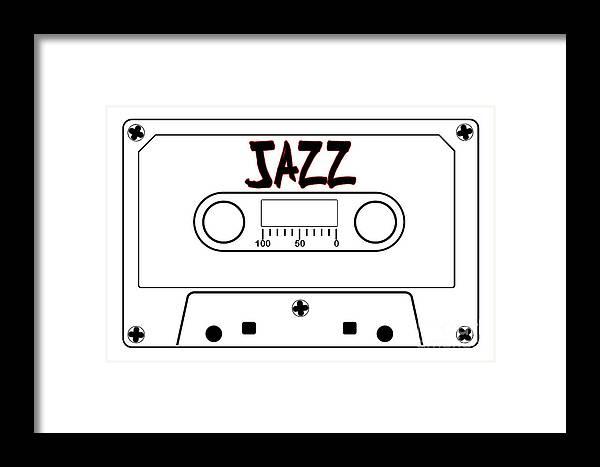 Jazz Framed Print featuring the digital art Jazz Music Tape Cassette by Bigalbaloo Stock