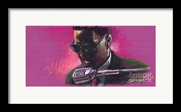 Jazz Framed Print featuring the painting Jazz. Ray Charles.1. by Yuriy Shevchuk