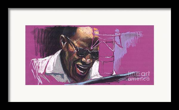 Jazz Framed Print featuring the painting Jazz Ray by Yuriy Shevchuk