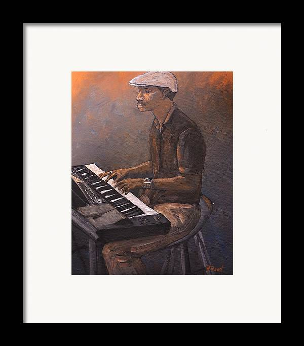 Jazz Framed Print featuring the painting Jazz by Reb Frost