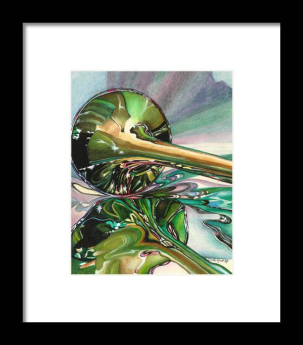 Watercolor Framed Print featuring the painting Jazz Shine by Carla Kurt