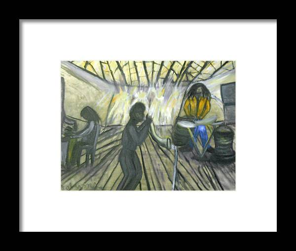 Musical Framed Print featuring the painting Jazz Trio by BJ Abrams