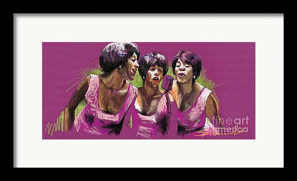 Jazz Framed Print featuring the painting Jazz Trio by Yuriy Shevchuk