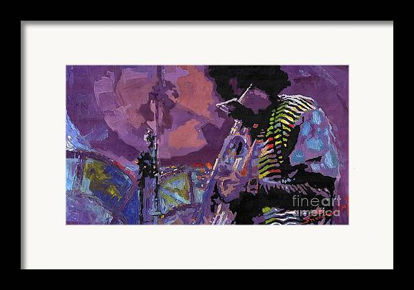 Jazz Framed Print featuring the painting Jazz.miles Davis.4. by Yuriy Shevchuk