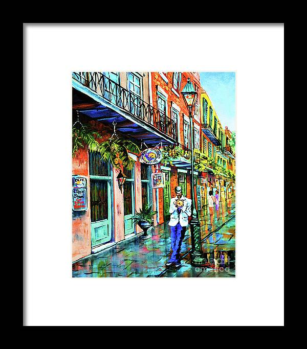 New Orleans Art Framed Print featuring the painting Jazz'n by Dianne Parks