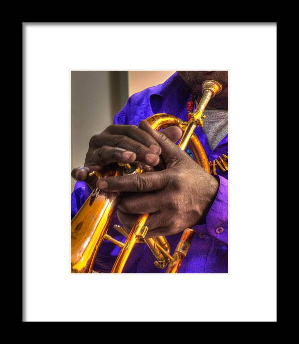 Black Framed Print featuring the photograph Jazzy Hands 937 by Jeff Stallard