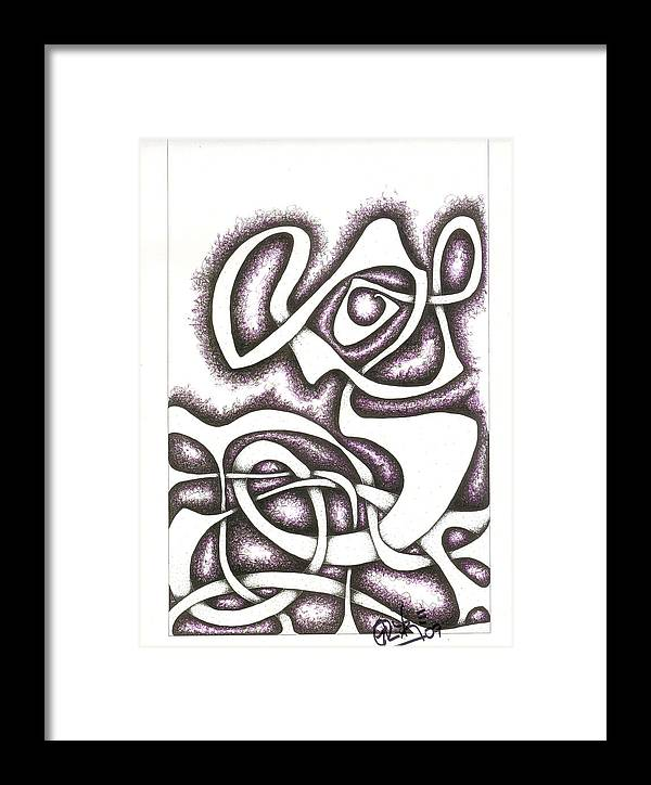 Mother And Child Framed Print featuring the drawing Je Suis Triste Et Seul Ici by Geoffroy Dextraze