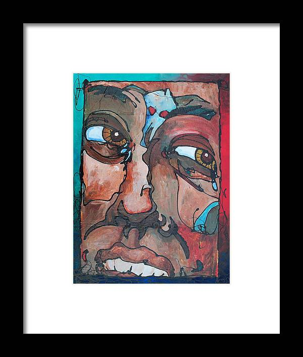 Abstract Framed Print featuring the painting Jealousy To Wrath Road by Ernie Scott- Dust Rising Studios