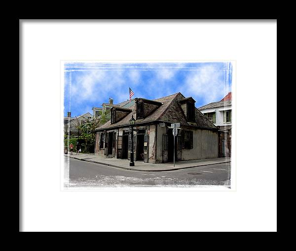 New Orleans Framed Print featuring the photograph Jean Lafitte The Blacksmith by Linda Kish