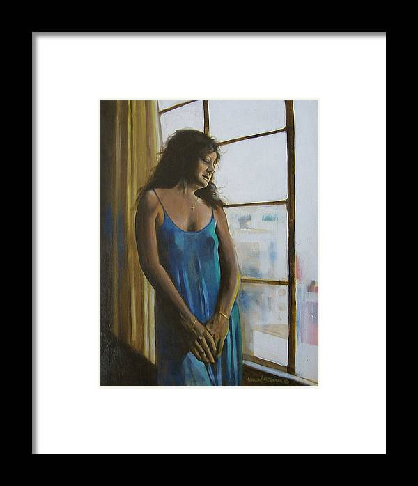 View From The 4th Floor Framed Print featuring the painting Jeanette by Howard Stroman
