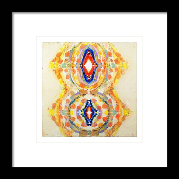 Abstract Framed Print featuring the painting Jeanine by Howard Goldberg