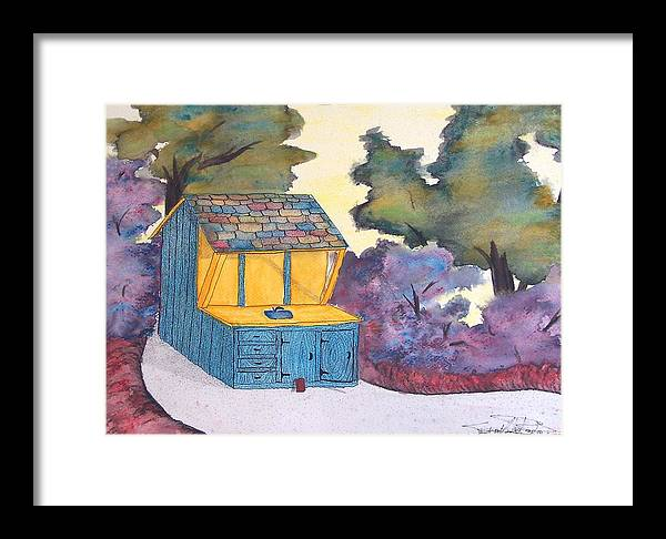 Watercolors Framed Print featuring the painting Jean's Bathhouse by Saundra Lee York