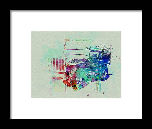 Willis Framed Print featuring the painting Jeep Willis by Naxart Studio