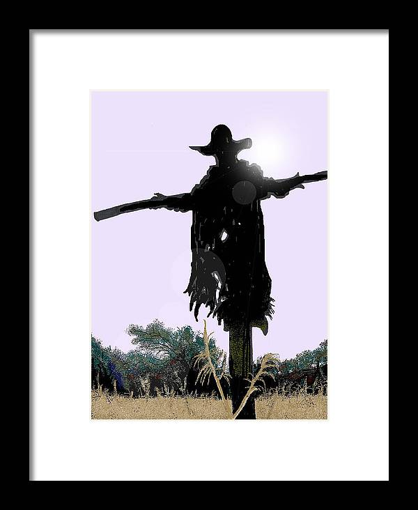 Jeepers Creepers Framed Print featuring the digital art Jeepers Creepers by Kim Souza