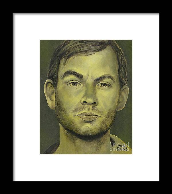 Jeffrey Dahmer Framed Print featuring the painting Jeffrey Dahmer by Michael Parsons