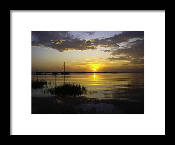 Georgia Framed Print featuring the photograph Jekyll Island Sunset by Elizabeth Eldridge