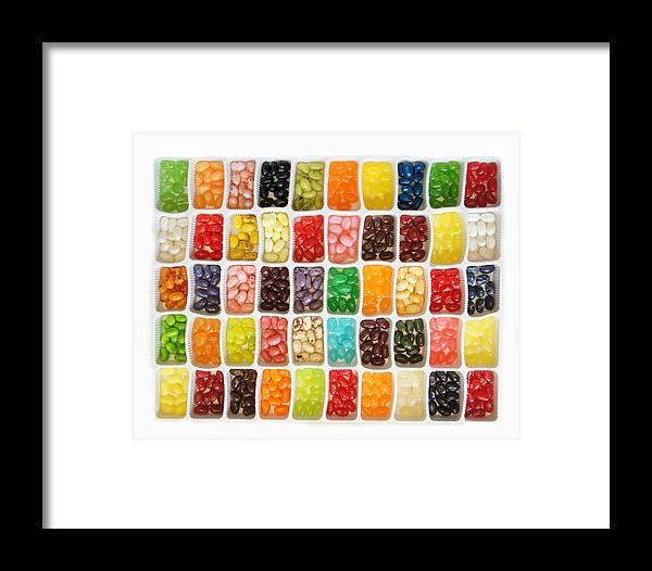 Bean Framed Print featuring the photograph Jellybeans by Art Spectrum