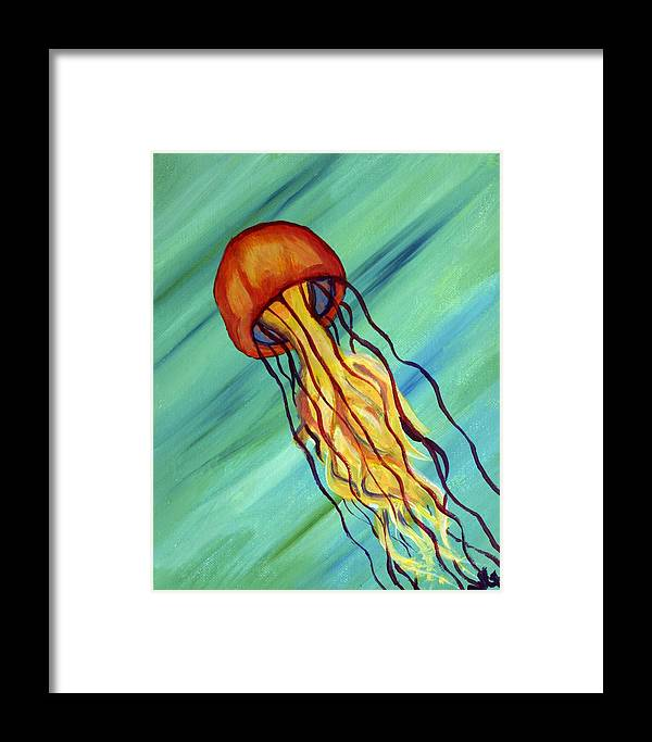 Jellyfish Framed Print featuring the painting Jellyfish by WIlliam Gushue