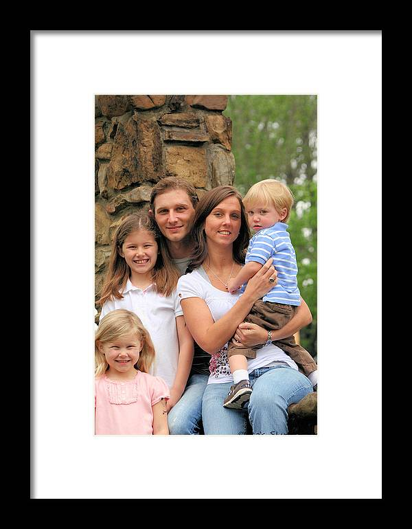 Framed Print featuring the photograph Jennifer And Family by Lisa Johnston