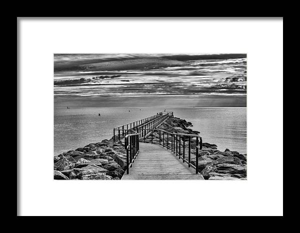 Beach Framed Print featuring the photograph Jennings Beach Dock by Michael Gallitelli