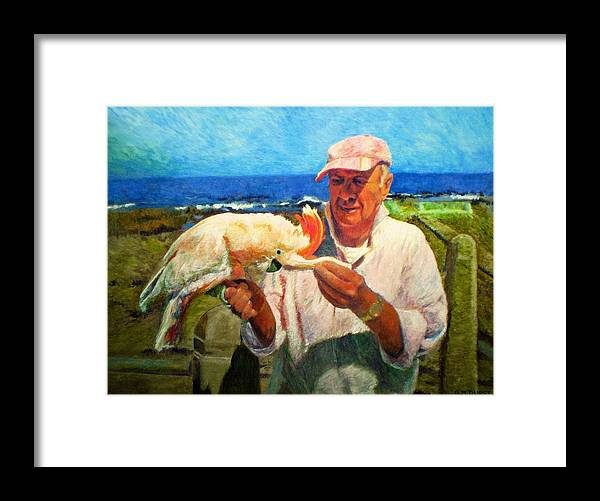Bird Framed Print featuring the painting Jergens And Honey by Michael Durst