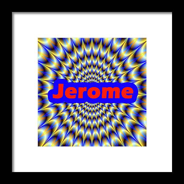 Men Framed Print featuring the digital art Jerome by Mitchell Watrous