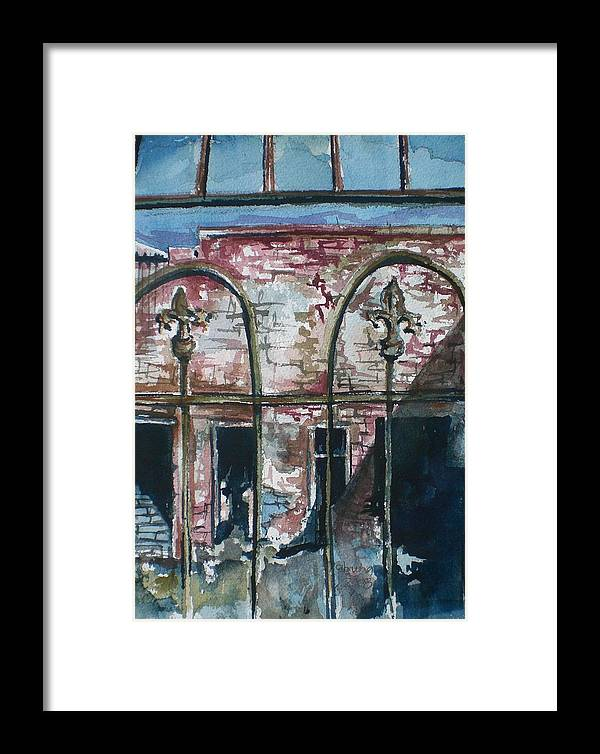Jerome Framed Print featuring the painting Jerome Ruins by Aleksandra Buha