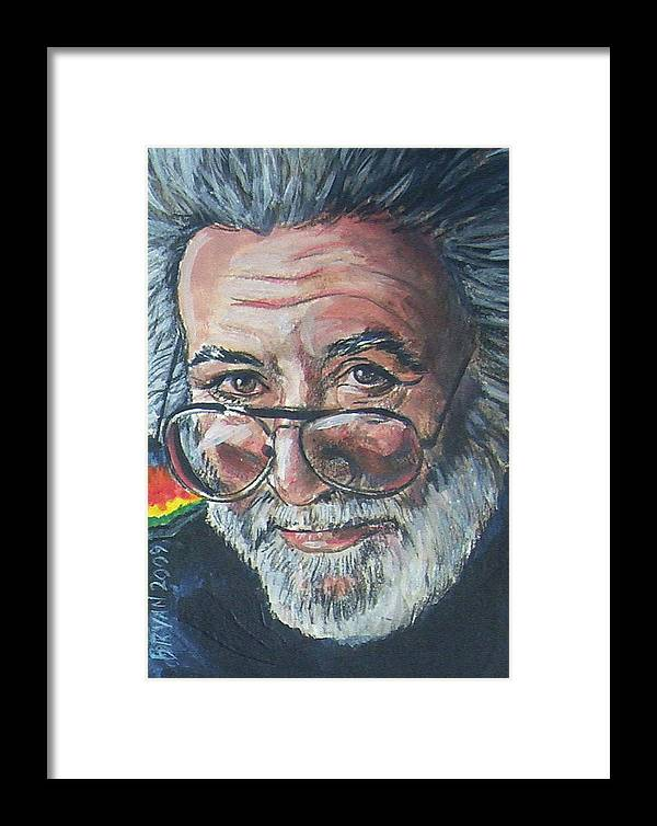 Jerry Garcia Framed Print featuring the painting Jerry Garcia by Bryan Bustard