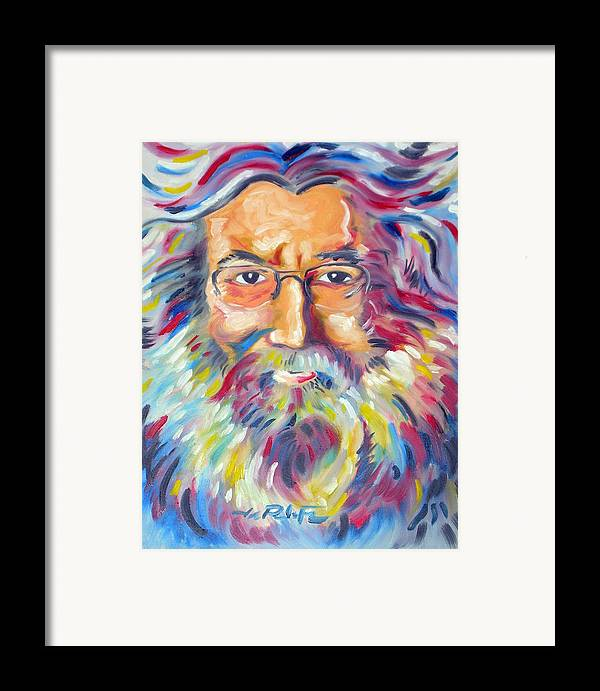 Jerry Garcia Framed Print featuring the painting Jerry Garcia by Joseph Palotas