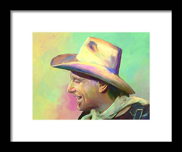 Jerry Jeff Walker Framed Print featuring the mixed media Jerry Jeff The Gypsy Songman by G Cannon